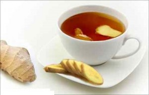 Herbal Tea from Ginger, Garlic, Lemon, Peppermint and Honey
