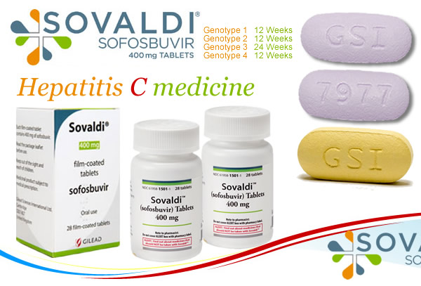 Sovaldi 400mg Hepatitis C (HCV) Treatment Medicine/ Drug