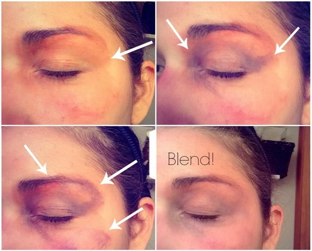 how to bruise yourself throught makeup