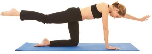 Opposite Arm and Leg Raise Exercise