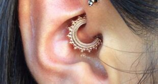 Daith Piercing - Pain, Healing time, Cost, Jewelry
