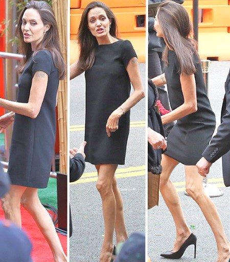 Angelina Jolie Anorexic Skinny Underweight Cancer Divorce
